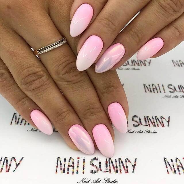Fluorescent Pink with Mother-of-Pearl Best Nails