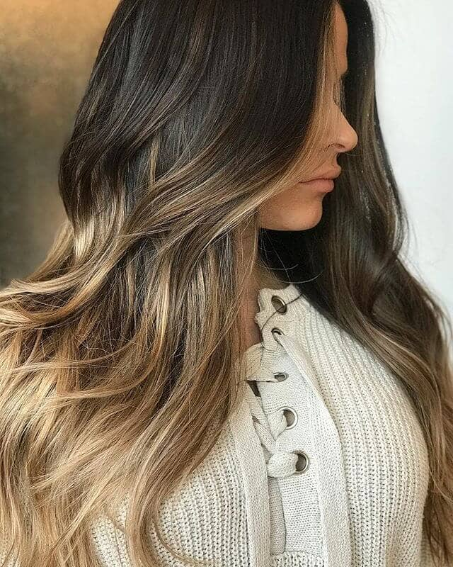Beach Blonde Highlights Concentrated on Ends
