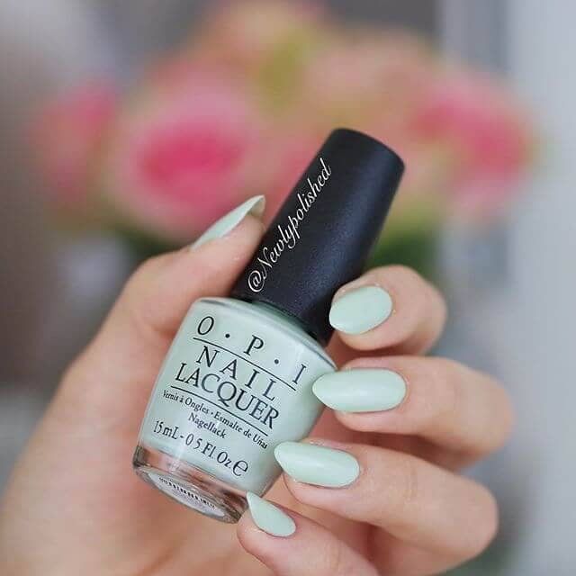 Playful and Classic OPI Matte Green