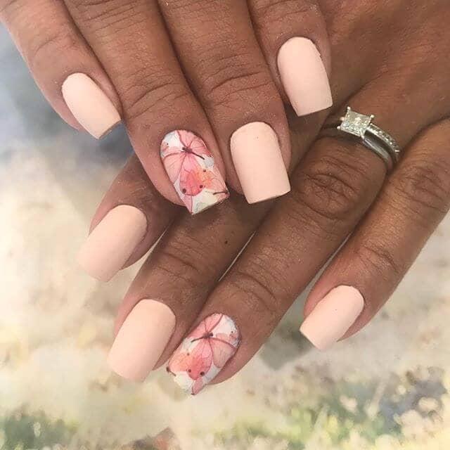 Springtime Pinks and Beautiful Butterflies