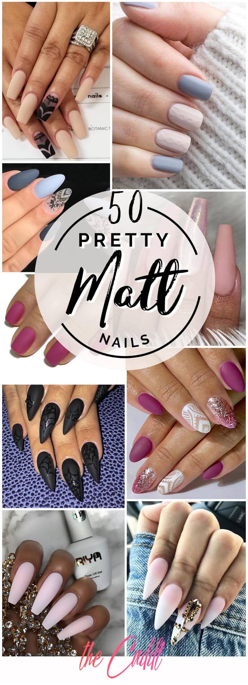 50 Unique Matte Nail Ideas to Elevate your Look in 2019