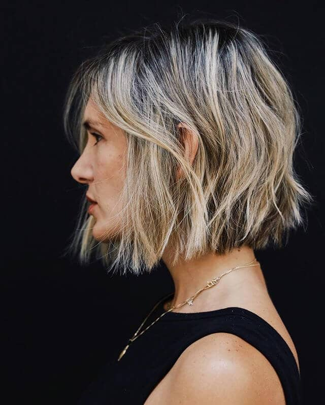 Easy-to-Style Choppy Bob Cut