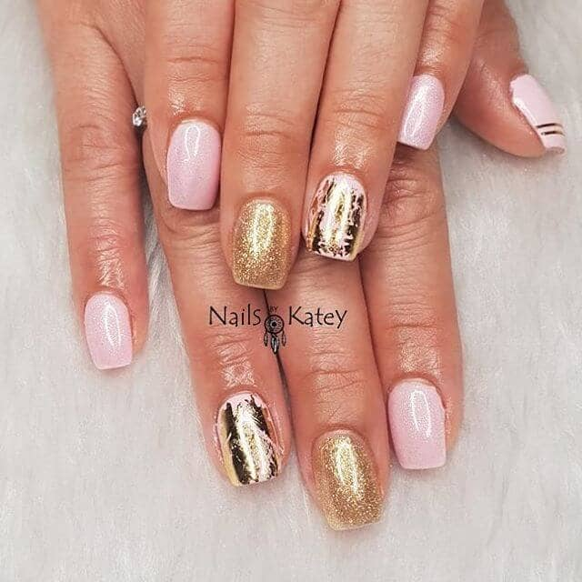 Subtle, Yet Sophisticated Gold Foil Manicure