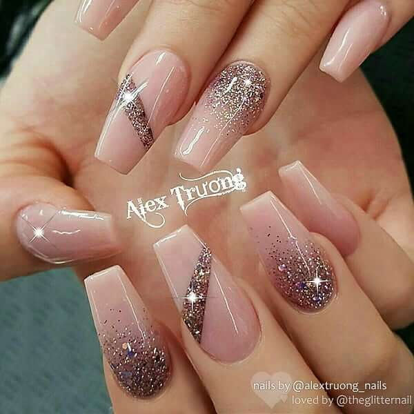 Shine Like A Diamond With Ombre Nail Art