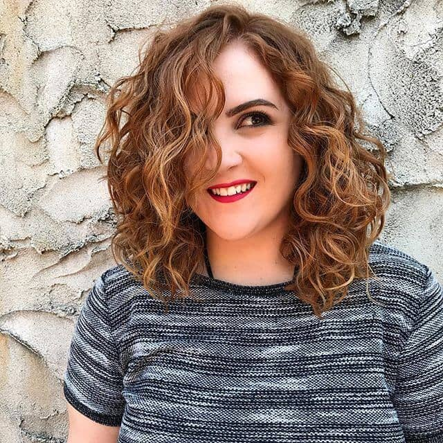 Cute and Fiery Short Perm Hair
