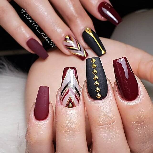 Ultra Luxe in Black, Gold, and Burgundy
