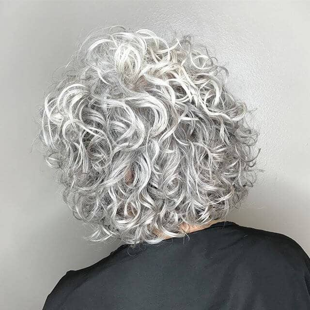 Super Curly Short Perm Hair