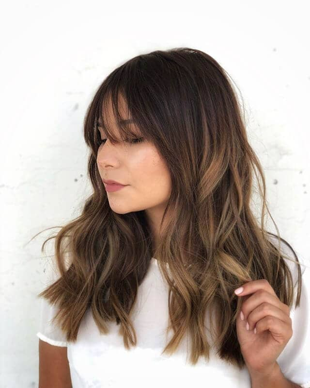 Long Bangs and Long Locks Style