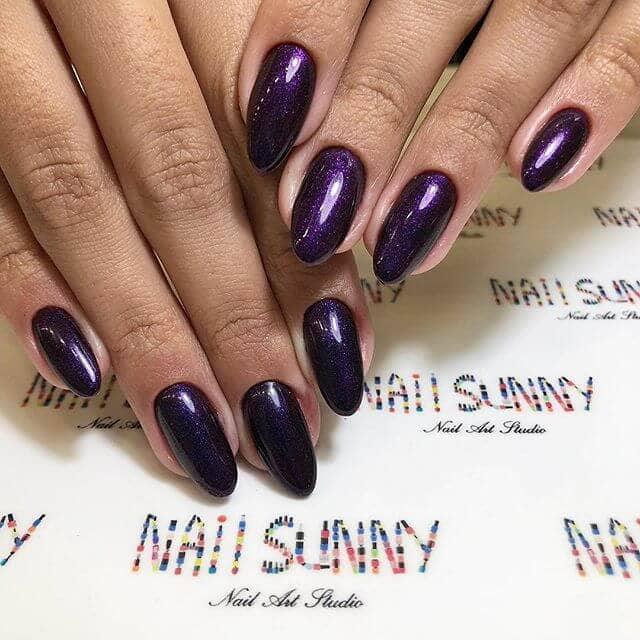 Pretty in Purple Burgundy Manicure