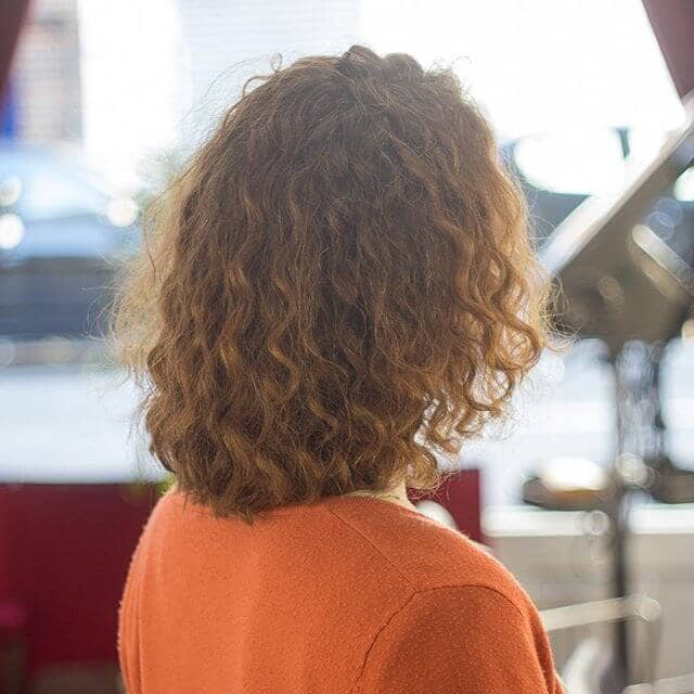 Pretty Perm Hair Idea for Short Hair