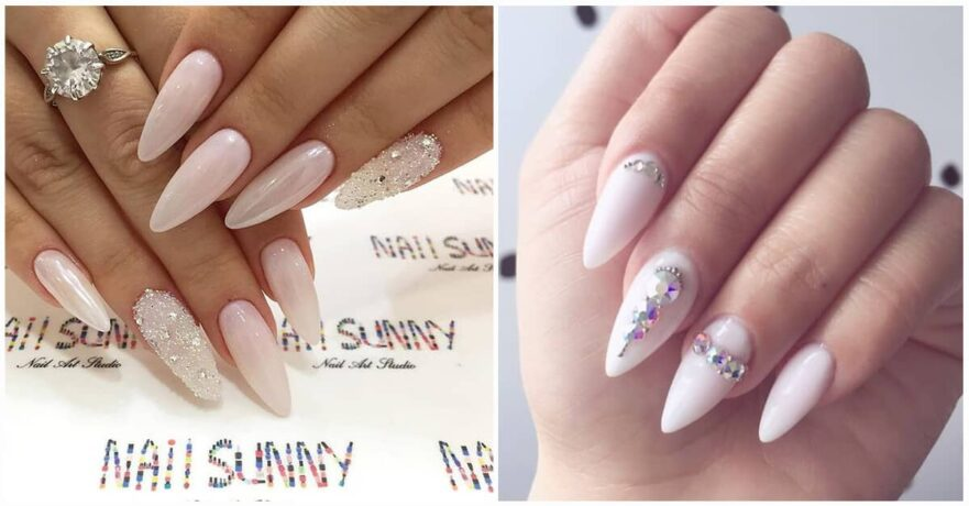 50 Classy Nail Design with Diamonds that will Steal the Show