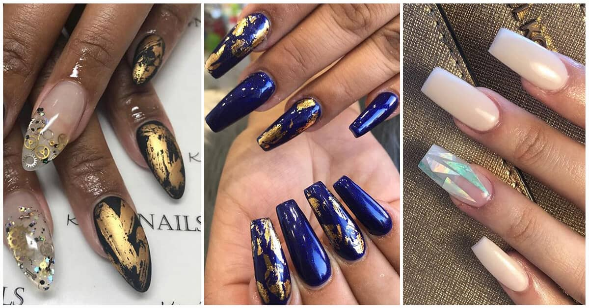 50 Glamorous Foil Nails To Make Nails The Perfect Accessory For 2020
