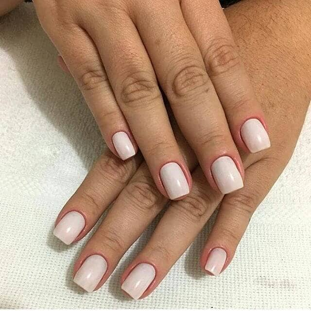 All Over White Matte Nails