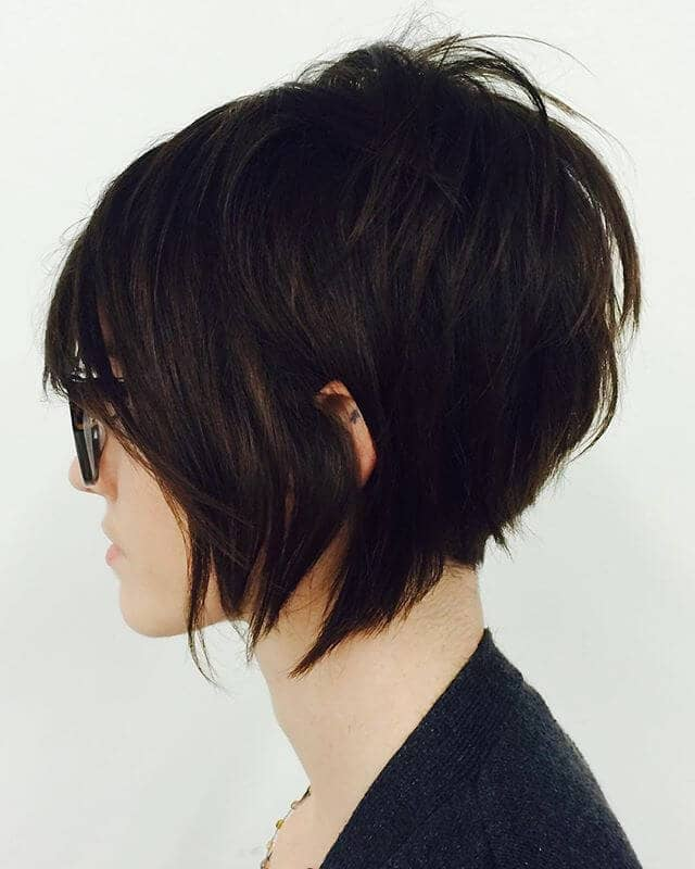 Blunt A-line Bob with Shaggy Long Bangs