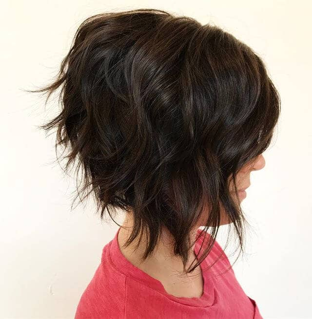 Cool and Chic Textured A-line Bob