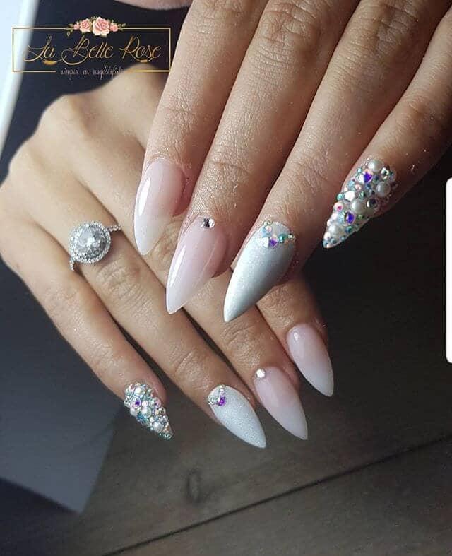 Блестящие и гламурные ногти