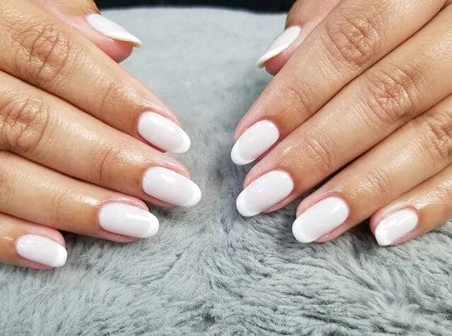 Beautiful Round Tipped Perfect French Manicure