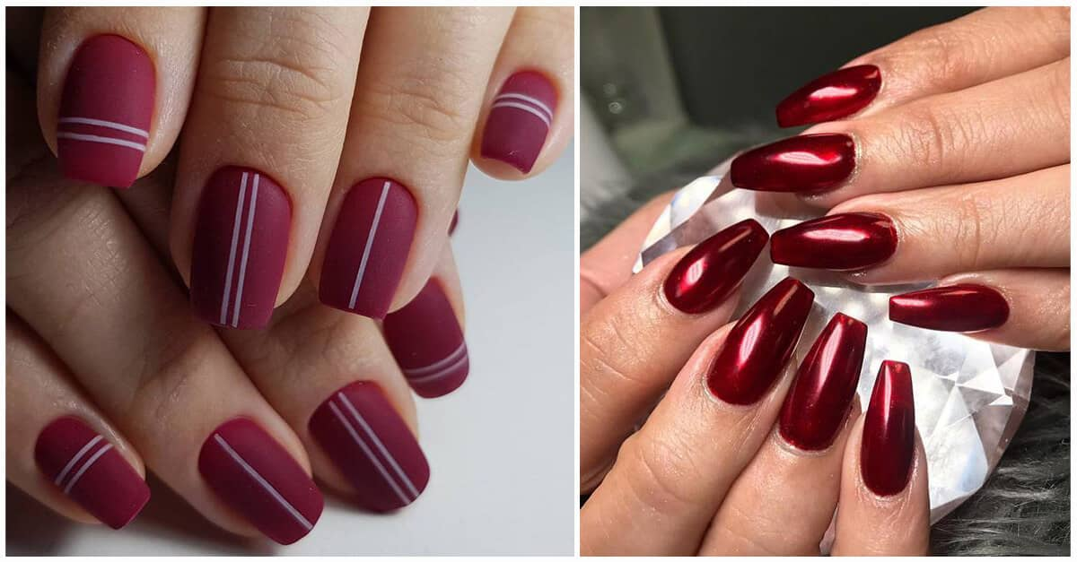 50 Sultry Burgundy Nail Ideas To Bring Out Your Inner Sexy In 2020