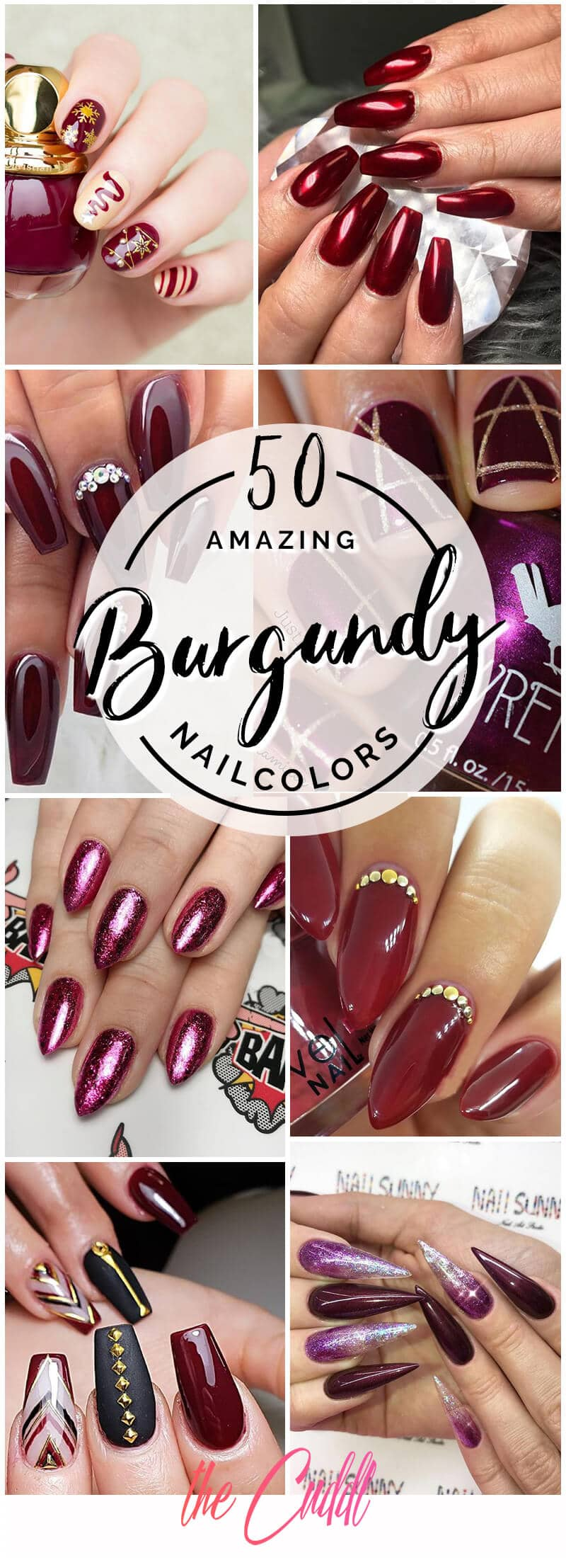 50 Sultry Burgundy Nail Ideas to Bring out Your Inner Sexy