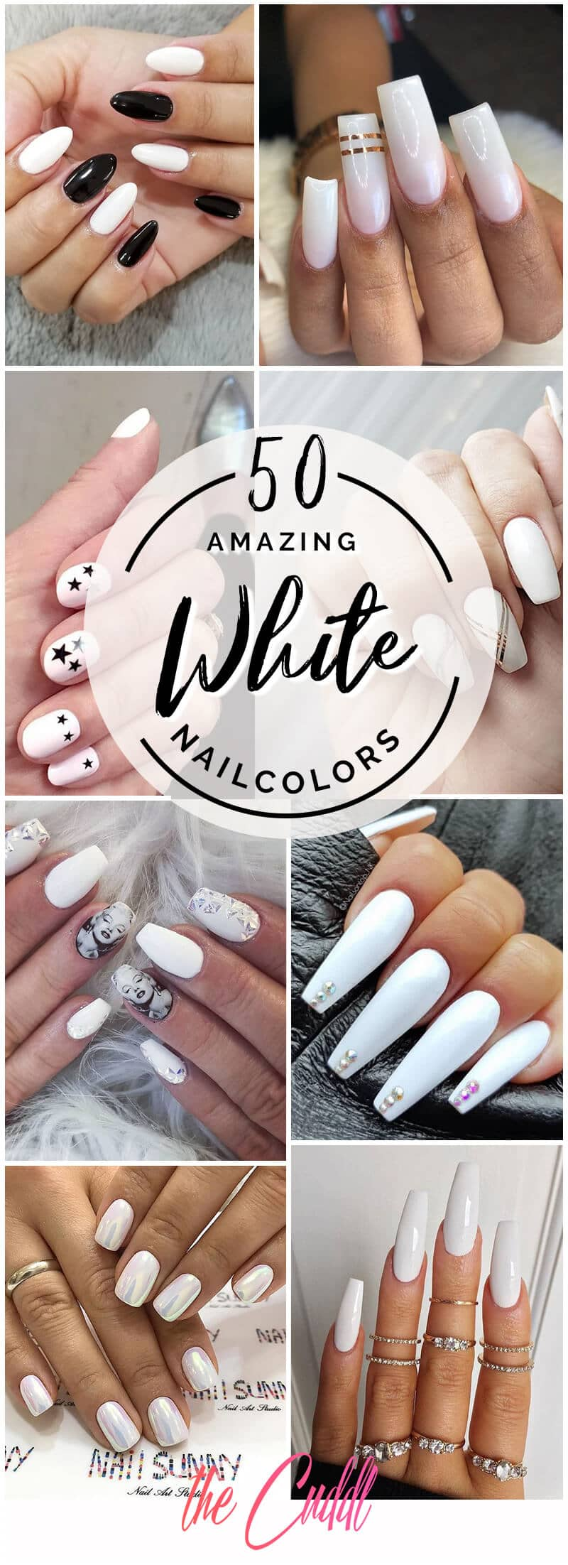50 Fun and Fashionable White Nail Designs for Any Occasion