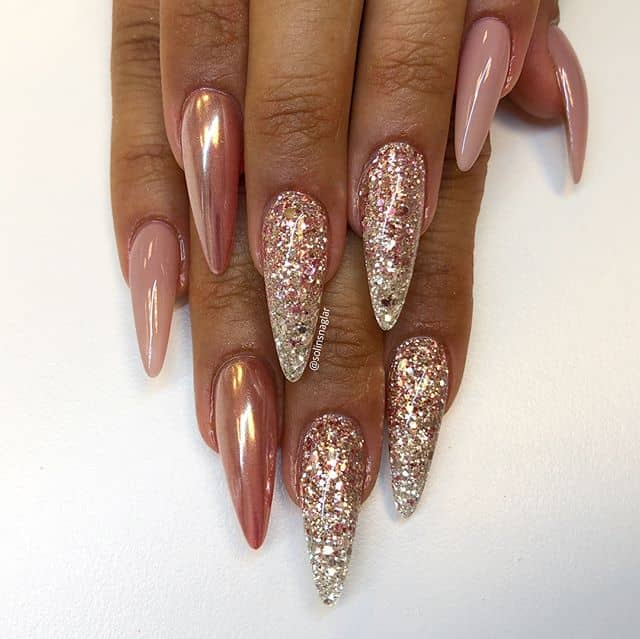 50 Stunning Stiletto Nail Ideas that Will Rock Your World in