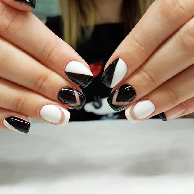 Cool Edgy Black and White Color Blocking