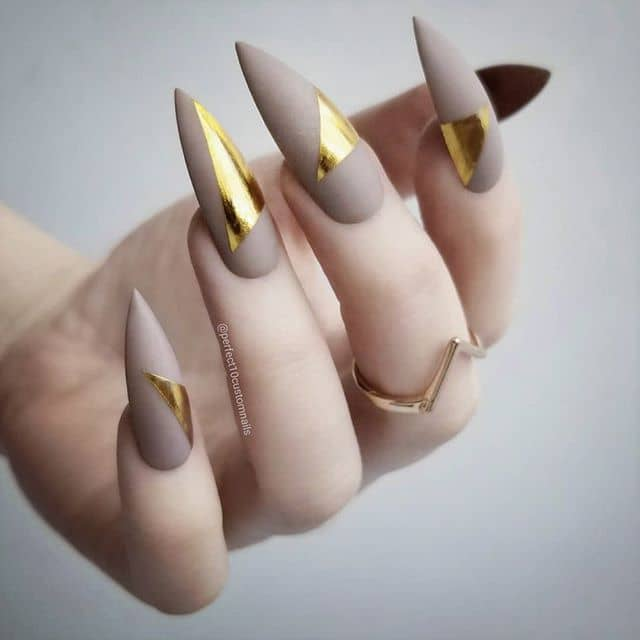 Matte Mauve with Golden Triangles
