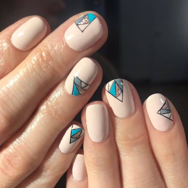 Simple Gorgeous Geometric Design with Sparkle Accents