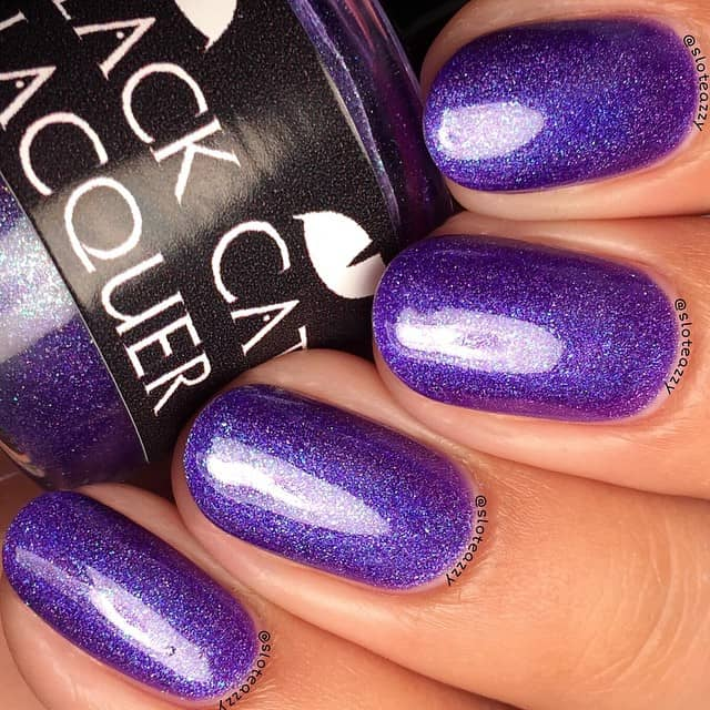 Fun and Flirty Sparkling Violet Nails