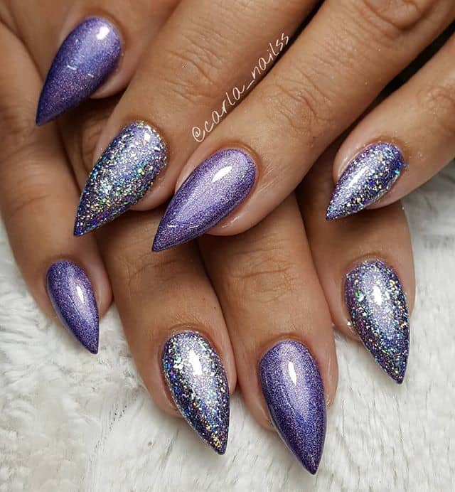 Purple Mountain Majesties Nail Design