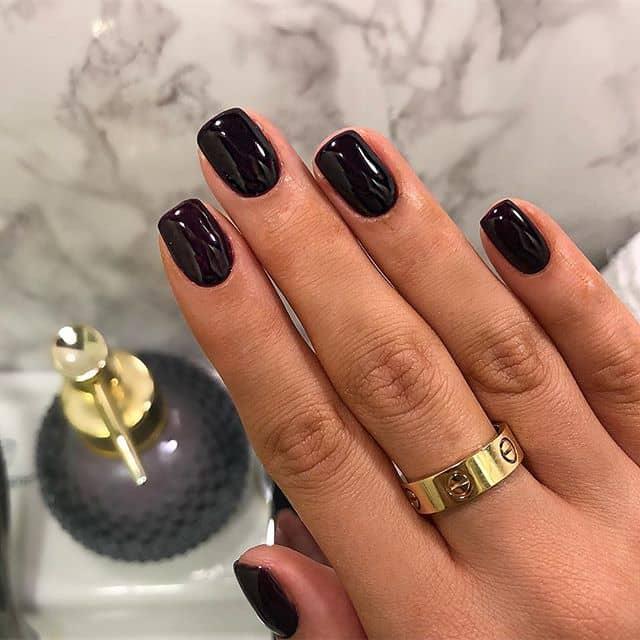 Sleek and Simple Dark Polish Mani
