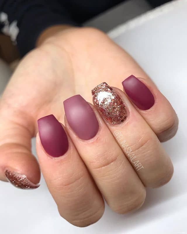 Romantic Rose Inspired Tones with Glitter