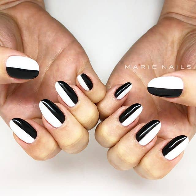 Terrifically Two-Toned Punk Rock Nails