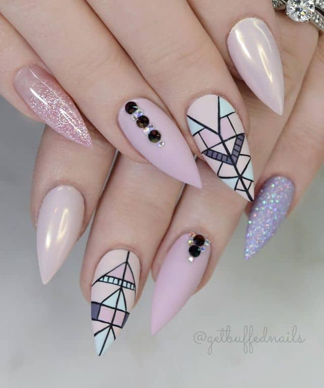 Pastel Pink with Art Deco Decorations