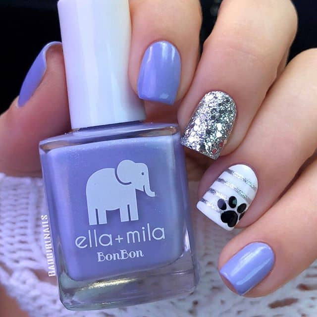 Playful Paw Print and Purple Ideas