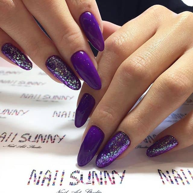 Bold and Beautiful Classic Purple Nails