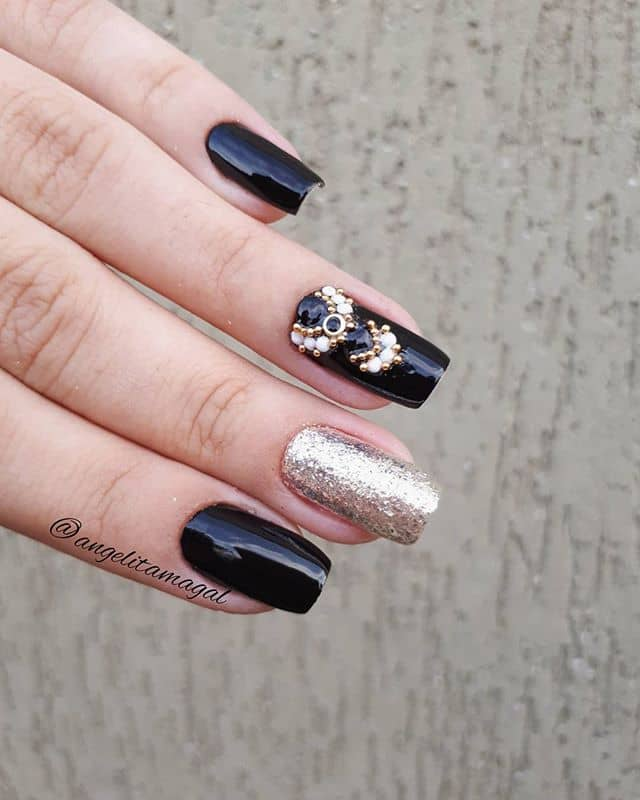 Modern Day Princess Nails With Pretty Jewels