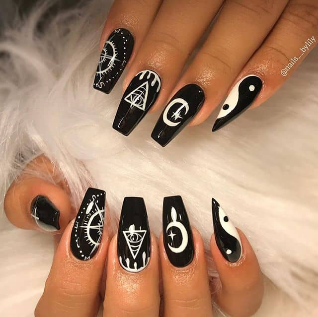 The Ultimate in Black and White Nail Art
