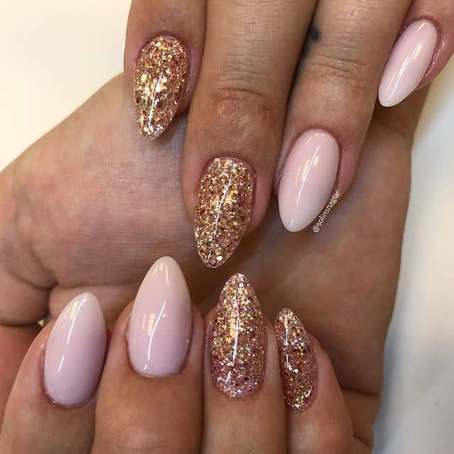 Rose Gold Glitter and Pink Love Affair