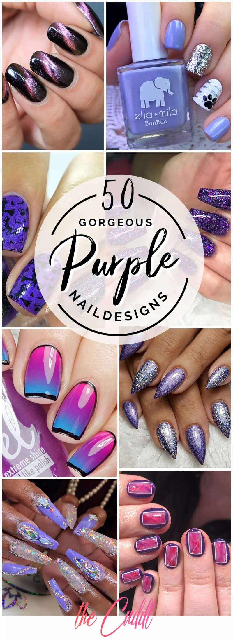 50 Gorgeous Purple Nails to Inspire your Next Nail Design