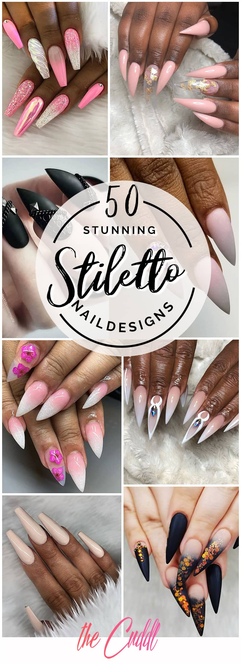 50 Stunning Stiletto Nail Ideas that Will Rock Your World