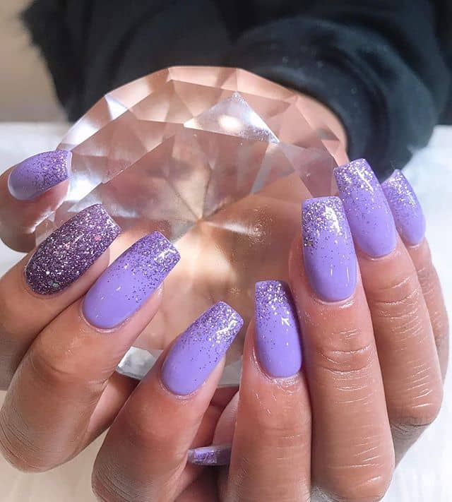 50 Cool Glitter Ombre Nail Design Ideas That are Trending in
