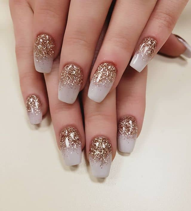 Beautiful Gold and White Ombre