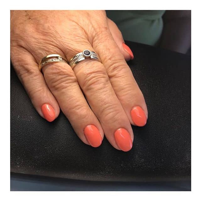 Pretty and Practical Coral Nails