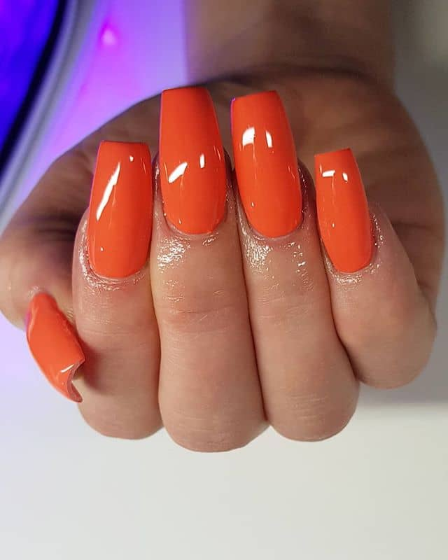 Glossed to the Gods Orange Nails