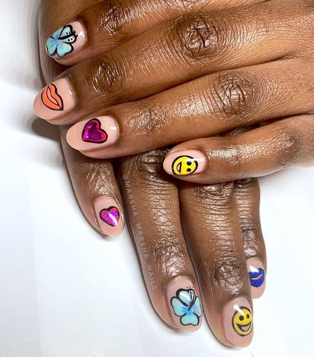 50 Eye-Catching Emoji Nails to Dress Up Your Look in 2019