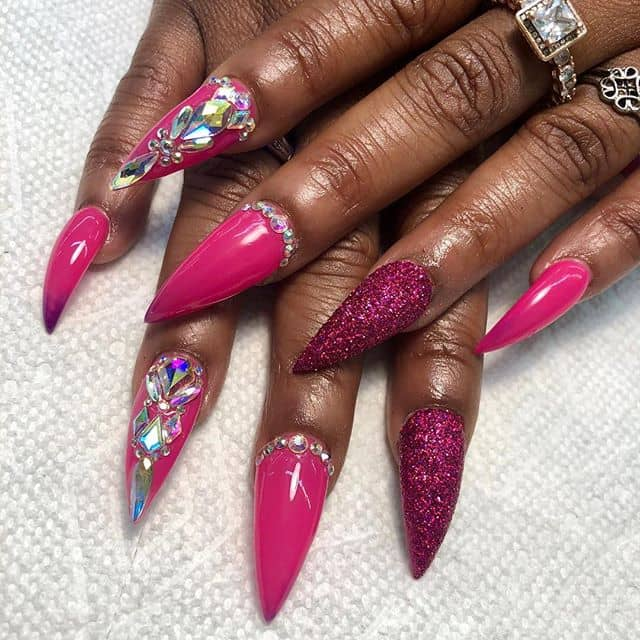 46 Cute Pointy Acrylic Nails that are Fun to Wear in 2019