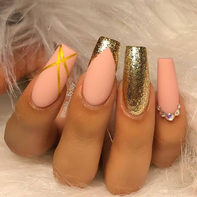Trendy Matte, Sparkly Glitter, Metallic Gold Foil Tape- Oh My!