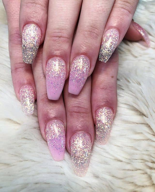 Cotton Candy Ombre Pink Nails