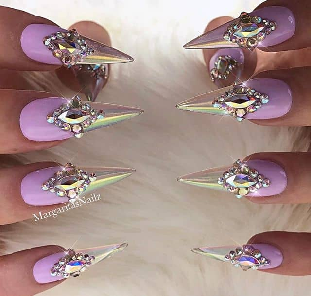 Pretty and Pink Champagne Icey Nails